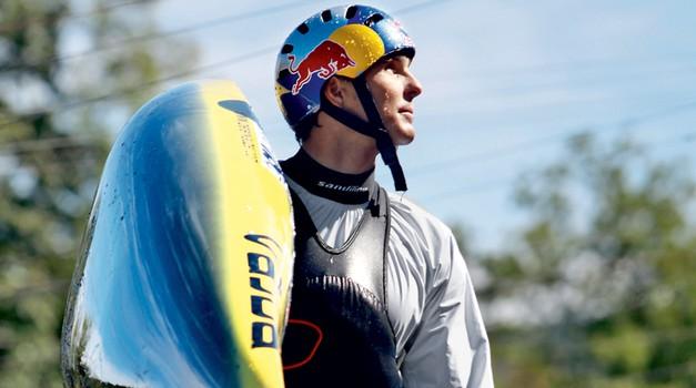 Kajakaš Peter Kauzer, svetovni in evropski prvak. (foto: Goran Antley, Shutterstock)