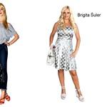 Iva Kranjc točno ve, kako se modi streže, Brigita Šuler pa... ni v ravno posrečeni kreaciji. (foto: Sašo Radej, Aleksander Štokelj, Primož Predalič, All-About-Fashion)