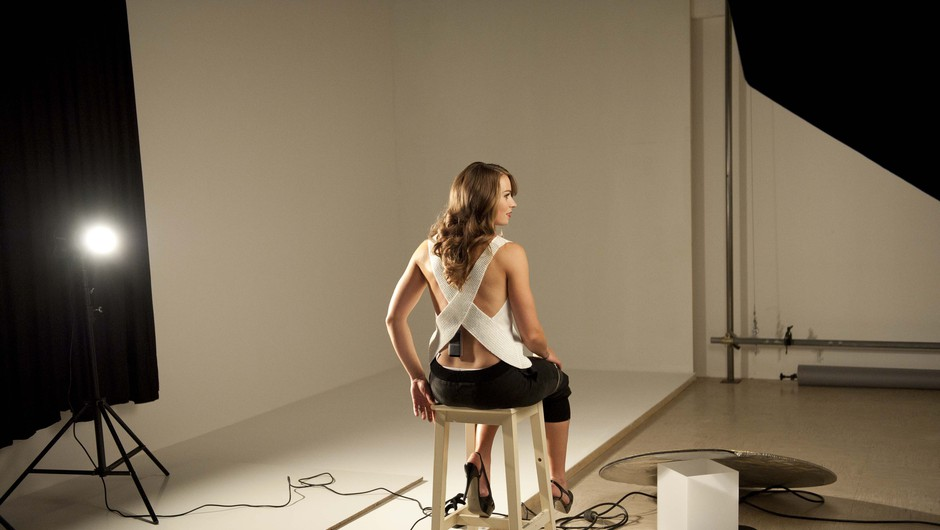 Video reportaža s snemanja s Tino Maze (foto: Petra Cvelbar)