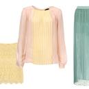 Krilo, Zara (49,95 €), bluza, Zara (49,95 €) in dolgo krilo,  Pull & Bear (39,99 €)