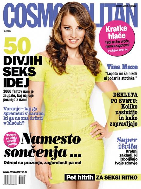 Tina Maze na naslovnici junijskega Cosmopolitana