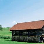 Simonov toplar velja za najlepši slovenski kozolec in je kulturni spomenik državnega pomena. (foto: Primož Predalič)