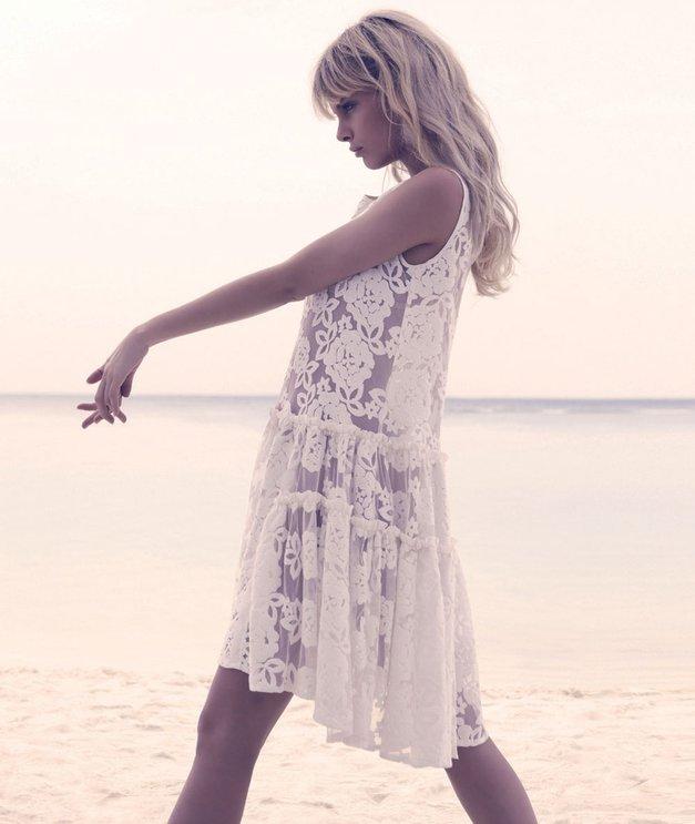Popolnoma svobodna: Modni vzorci, vtkani v belo tkanino (foto: Ben Riggot, Alex Štokelj)