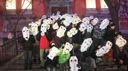 Foto utrinki z ljubljanskega Protestivala