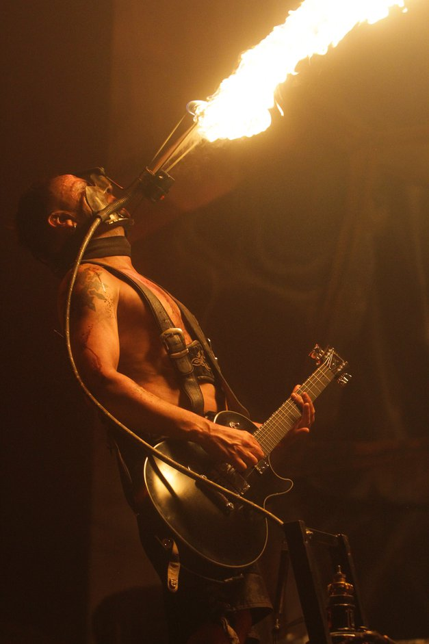 Foto utrinki z Rammsteinov v Stožicah! (foto: Goran Antley)