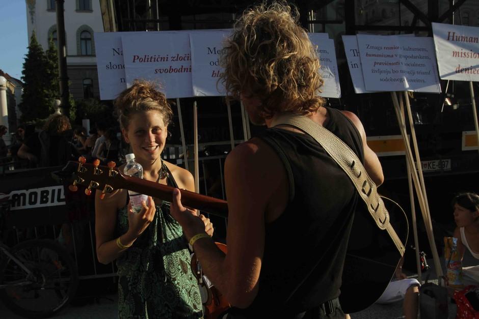 Fotografije: Festival Sanje in #Človek na Kongresnem trgu (foto: Goran Antley)