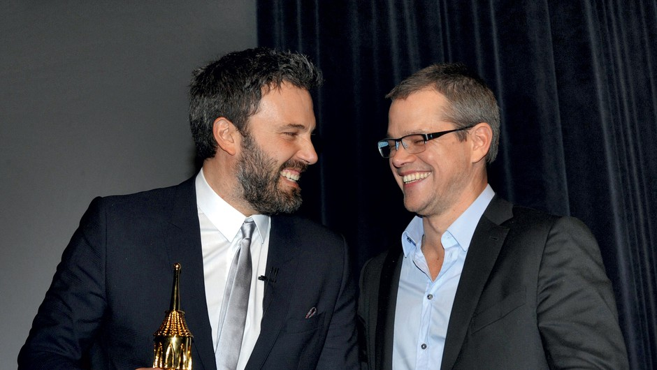Matt Damon in  Ben Affleck  Igralca nista zaveznika le na filmskih platnih, tudi v zasebnem življenju veliko časa preživita skupaj. (foto: profimedia)