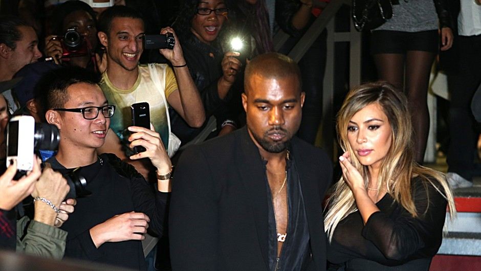 Kanye in Kim v Parizu brez hčerke (foto: profimedia)