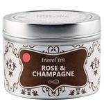 Prepusti se omamnemu vonju vrtnic in šampanjca v  kopalnici, spalnici in na potovanju. Potovalna dišeča sveča, One with nature Candles Rose & Champagne (7,99 €) (foto: promocijsko gradivo, primož predalič)