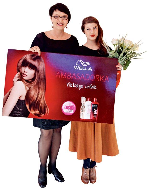 Zmagovalki je nagrado podelila predstavnica blagovne znamke Wella Andreja Fras Martini.