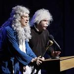 Satirična drama Fiziki na odru MGL (foto: foto Barbara Ceferin)