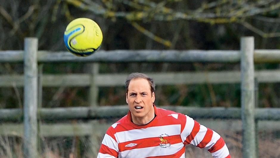 William je navdušen nad nogometom in ga tudi dobro igra.  (foto: Profimedia)