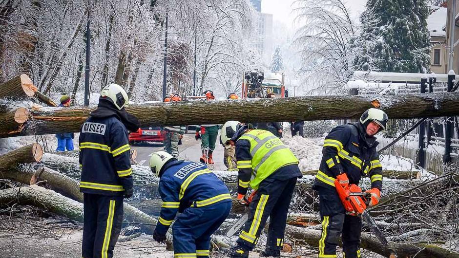 Nagrado DejanYe leta so prejeli vsi gasilci in prostovoljci, ki so pomagali ob žledu. (foto: Aleš Pavletič)