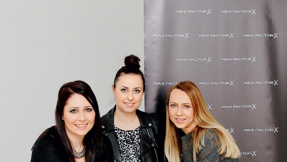 žirija: vodja umetnikov ličenja Tina Fabjan, urednica lepote Katja Jakopovič in Nataša Žlajpah, vodja blagovne znamke Max Factor za Slovenijo. (foto: Aleš Pavletič)