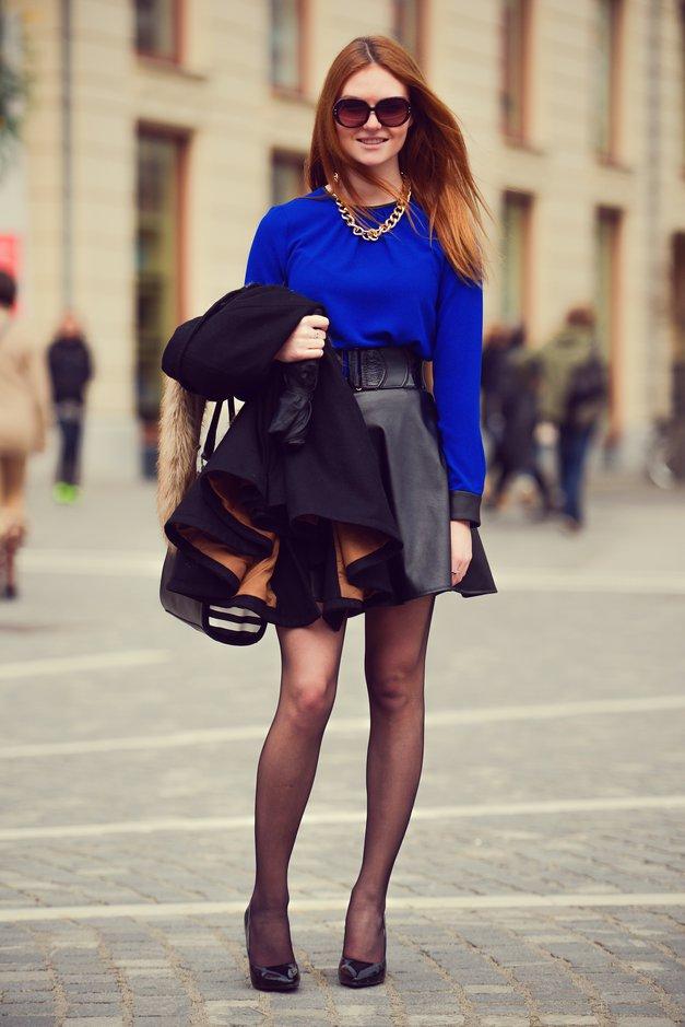 Karin pravi, da so pri njenem stilu najpomembnejši in najljubši kos čevlji. Sicer pa se poskuša držat načela, da je preprostost ključ do elegance. (foto: Robert Ribič)