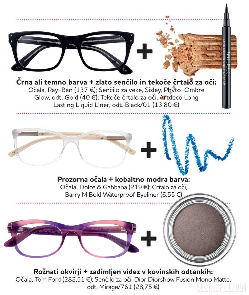 očala in make-up