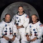 NEIL A. ARMSTRONG, vodja odprave, MICHAEL COLLINS, pilot komandnega modula, in EDWIN E. ALDRIN Jr., pilot lunarnega modula. (foto: profimedia)