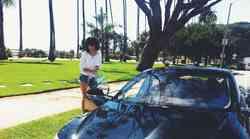 Razglednice Cosmu: s Tesla Model S po Santa Monici