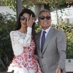 Z zvezdniške poroke Georgea in Amal v Benetkah (foto: profimedia)