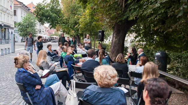 Prvi ulični pogovor, gostja Vida Ogorelec (foto: Matej Perko)