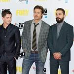Gre za domoljubni film o drugi svetovni vojni, v katerem blesti Brad Pitt, ob njem pa sta med drugimi tudi Logan Lerman in Shia LaBeouf. (foto: Profimedia, Story Press, Maja Slavec)