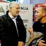 Ponosna ambasadorja akcije Zavoda Emma: Boris Cavazza in Dejan Zavec. (foto: Zavod Emma)