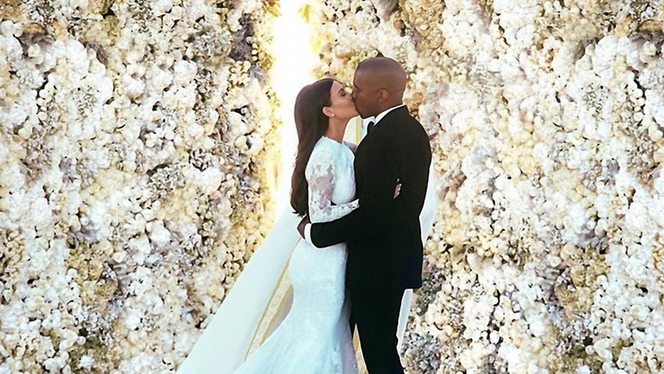 1. Kim Kardashian in Kanye West (foto: Profimedia)
