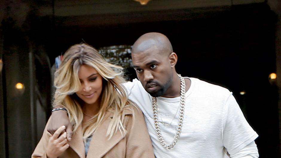 Kim Kardashian in Kanye West (foto: Profimedia)