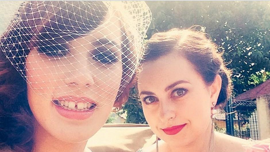 Poročni selfi s Cosmo Katjo (foto: osebni arhiv)