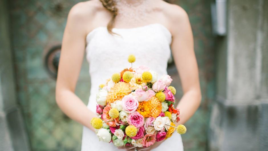 Razkrivamo, kako do popolnega poročnega šopka (foto: Nastja Kovačec)