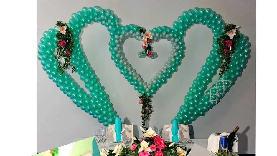 Obišči razstavo poročnih dekoracij z baloni (foto: promocijsko gradivo)