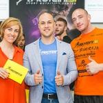 Dobro razpoloženi Nina Valant, Chorchyp in Jure Pančur.  (foto: Aleksandar Domitrica)