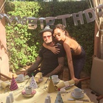 David in Victoria Beckham na popoldanski družinski zabavi (foto: Twitter)