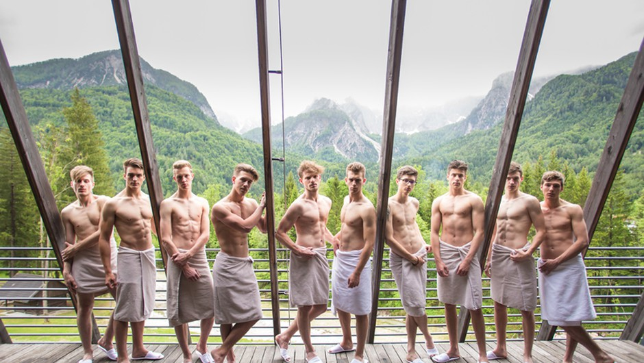 1. Finalisti so se v Alpskem Wellnessu sproščali ob čarobnem pogledu na goro Špik. (foto: Luka Brataševec)