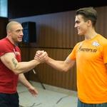 3. Denis Chorchyp je fantom čestital za dobro opravljen jutranji trening. (foto: Luka Brataševec)