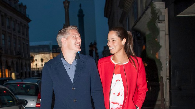 Ana Ivanović in Bastian Schweinsteiger trenutno nedvomno spadata med najbolj vroče športne pare na svetu. (foto: Profimedia)