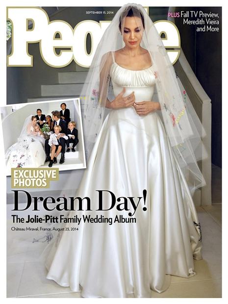 Nevesta Angelina Jolie na naslovnici revije People.