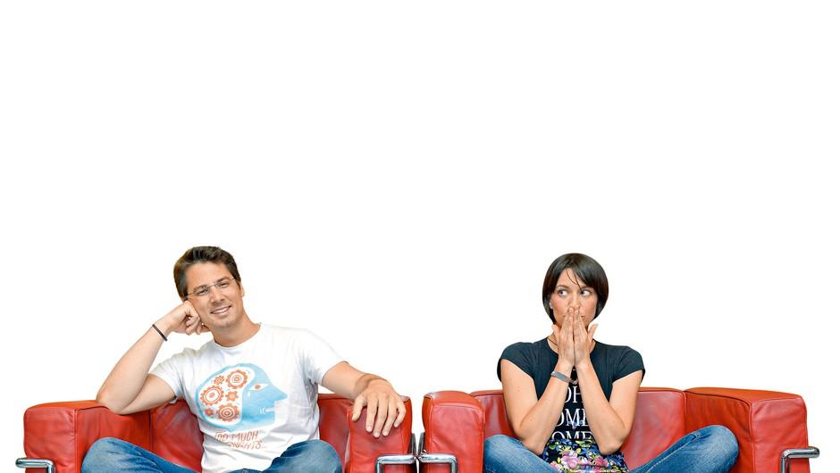 Na fotografiji: Marin Medak in Tina Torelli (foto: Primož Predalič)