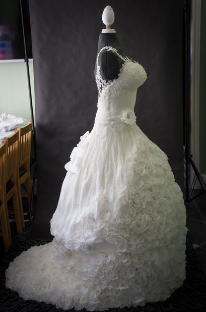 Na prvi pogled se zdi, da je na fotografiji čudovita poročna obleka, v katero bi z veseljem smuknila vsaka nevesta. …