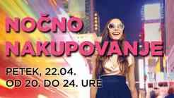 Ta petek v BTC City Ljubljana spet Late night shopping