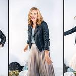 Oblačila: majica H&M, krilo Zara, usnjena jakna Liu Jo, čevlji last stilistke (foto: Taja Košir Popovič)