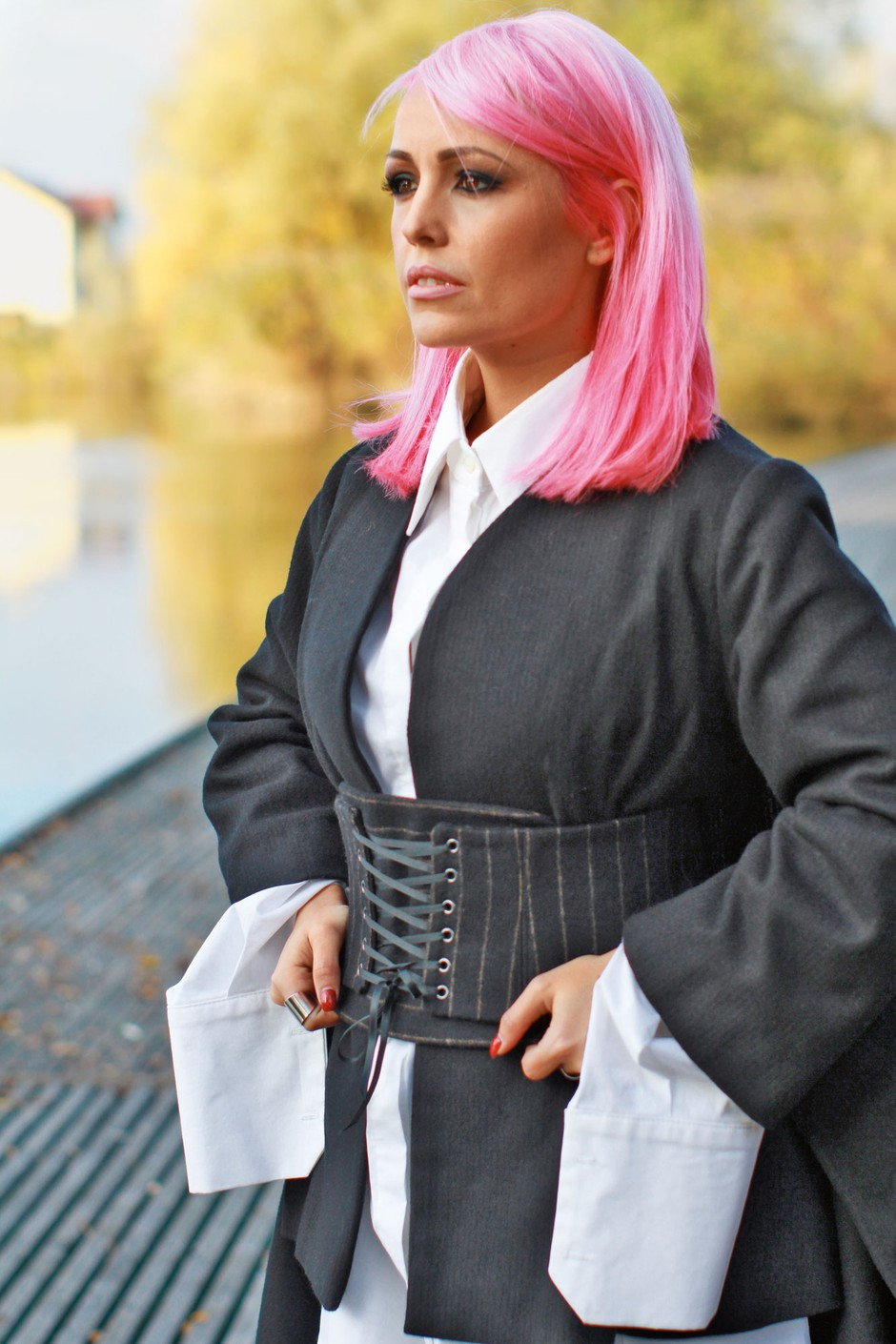 Nina Šušnjara iskreno o tem, kako fizično naporno je modno poslanstvo (foto: Goran Antley)