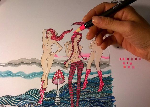 Prva slovenska erotična pobarvanka za odrasle vabi k žgečkljivemu ustvarjanju (foto: promocijsko gradivo)