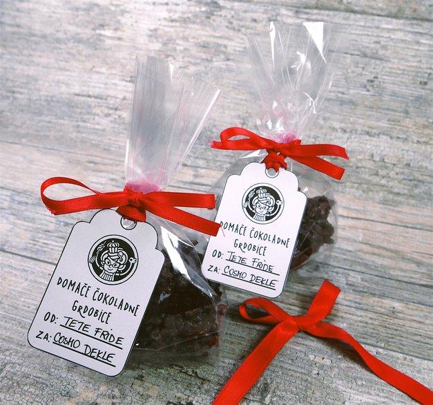 Čokoladne grdobice (ideja za darilo) - RECEPT + darilni kartončki (foto: Teta Frida)