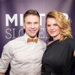 Organizatorja projekta Mister Slovenije Erik Ferfolja in Nina Uršič. (foto: Anže Furlan)