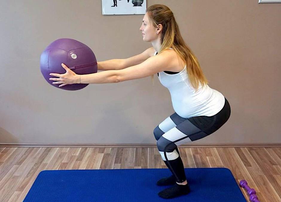 Ja, tako koristna je telovadba med nosečnostjo (+ video trening) (foto: Osebni arhiv Adrijane Brečko)