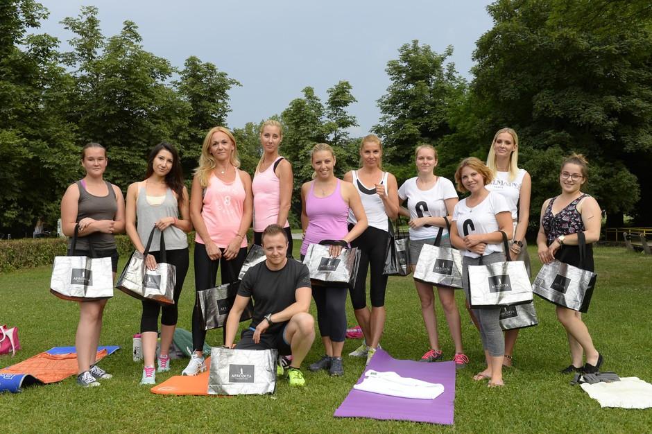 Poglej, kako smo se zabavali na skupnem treningu v Tivoliju (foto: Foto Primož Predalič)