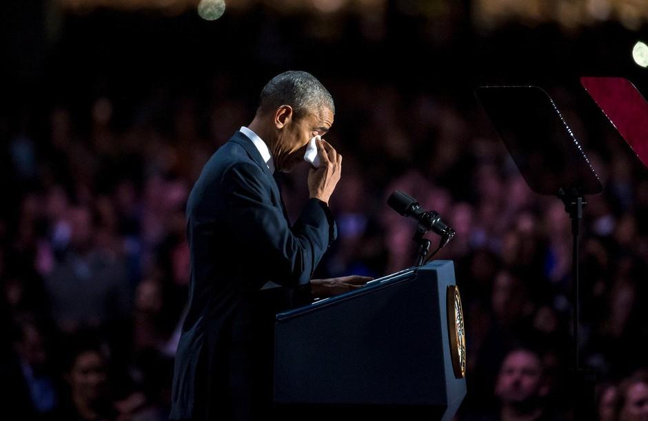 Tajna služba je nekdanjega ameriškega predsednika Baracka Obamo zalotila v solzah (foto: Profimedia)