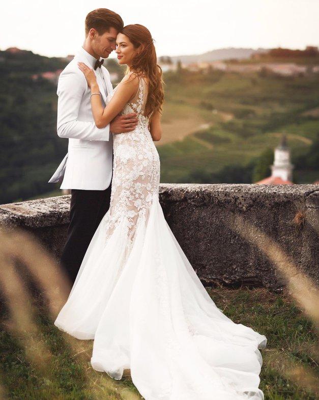 Kristina in Miha Vodičar (Zvezde plešejo): Poglej, kako po poroki uživata v Grčiji (foto: Metka Skrt)