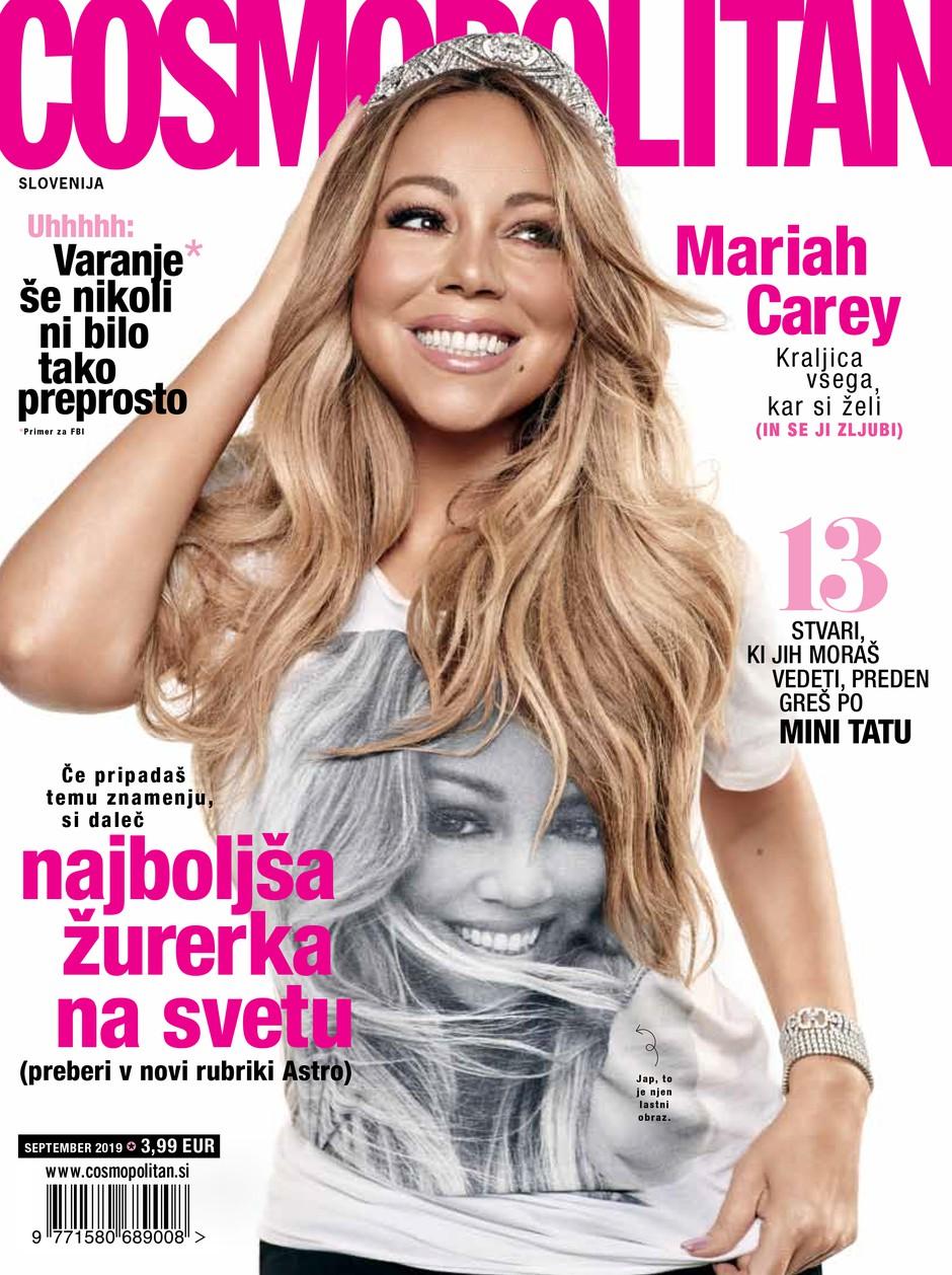 VROOOČE: Novi Cosmo z Mariah Carey in DARILOM (foto: Cosmopolitan Slovenija)